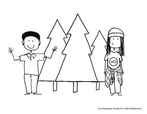 Camp New: Humble Pie Coloring Page 1