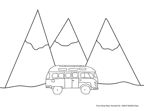 Camp New: Humble Pie Coloring Page
