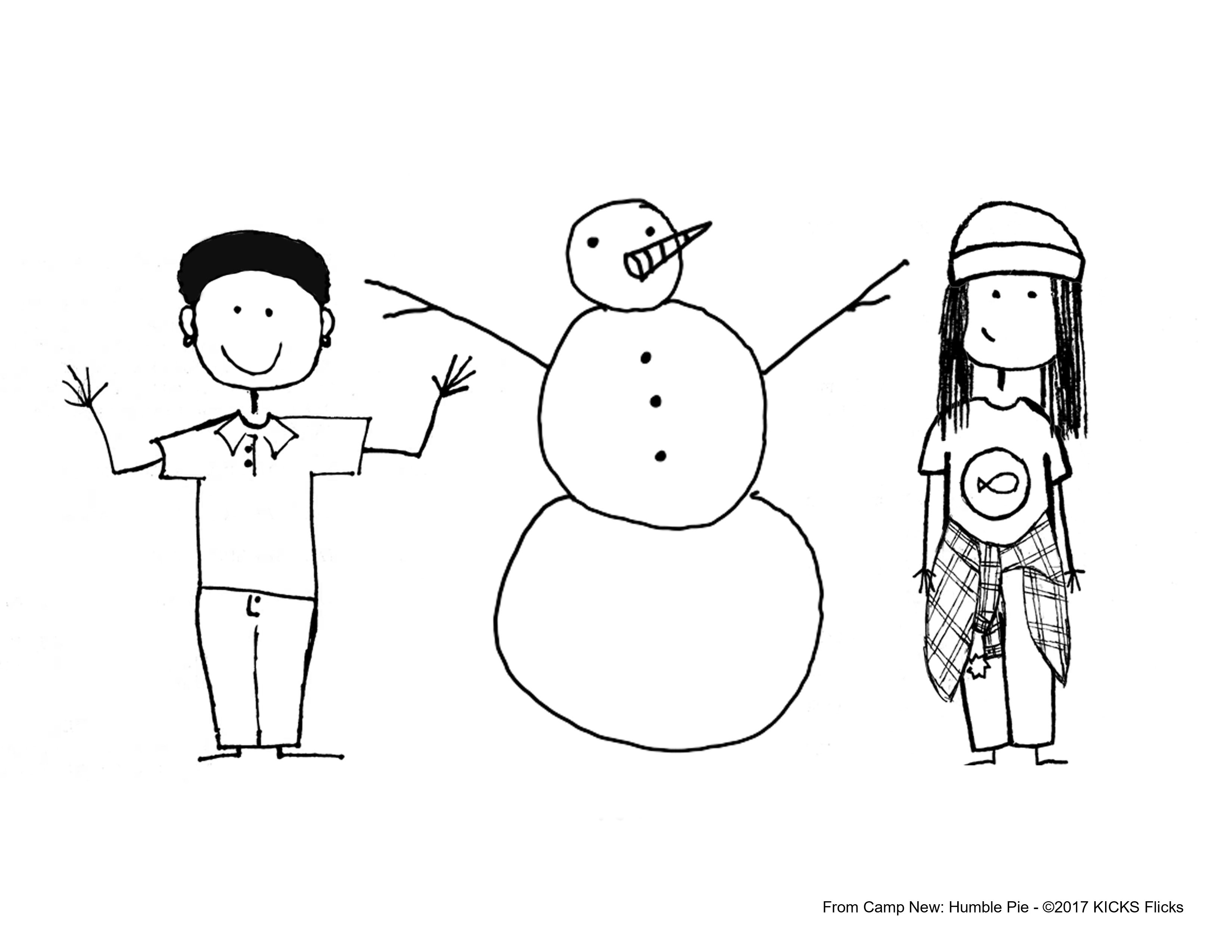 Christmas Coloring Pages from Camp New: Humble Pie Movie ...
