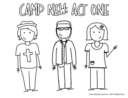 Camp New: Act One Coloring Page