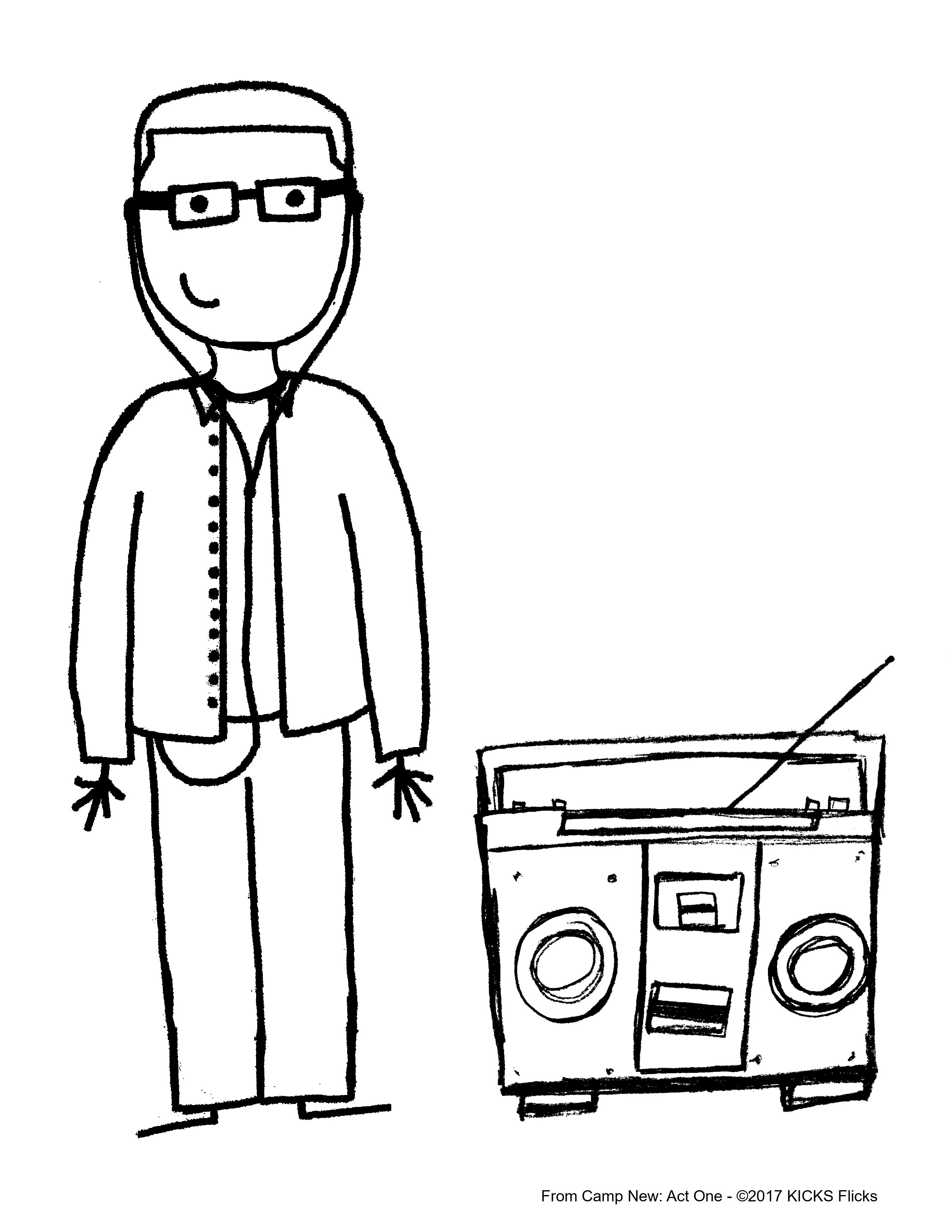 Cool Boombox Coloring Pages Gallery - Entry Level Resume Templates ...