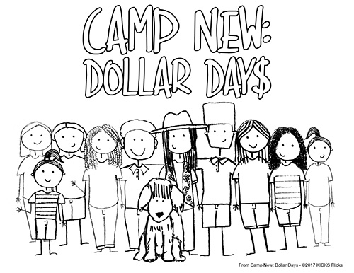 Camp New: Dollar Days Coloring Page