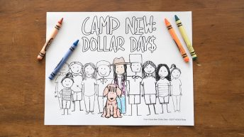 Camp New: Dollar Days Coloring Pages