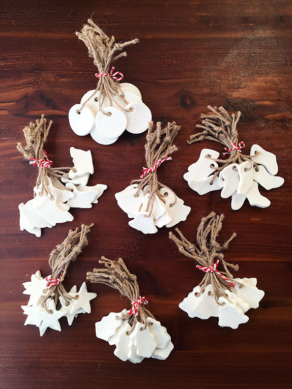 White as Snow DIY Ornaments/Gift Tags